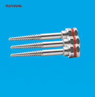 Bone screw and titanium alloy screw implantation screw