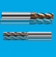 波刃铣刀 高硬度铣刀 涂层4刃螺旋铣刀