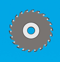 三面刃焊刃式铣刀 三面刃圆弧铣刀