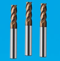 涂层4刃平底铣刀 高硬度平底铣刀